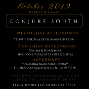 CONJURE SOUTH OCT EVENTS