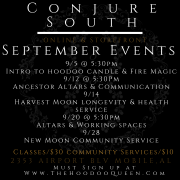 Conjure South Sept. Event Flyer